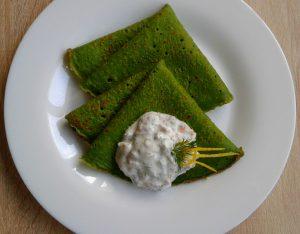 Млинці зі шпинату