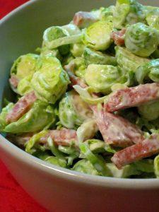 Салат із брюссельської капусти